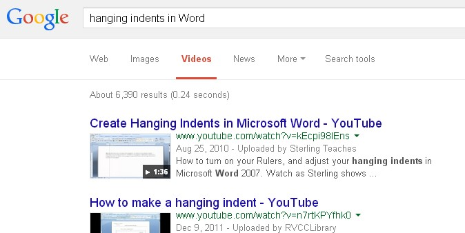 Google query search video