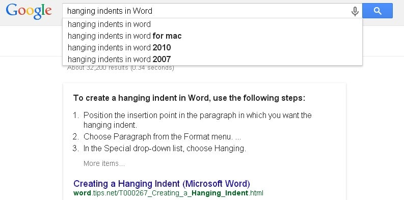 Google query search