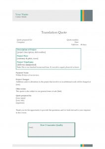 Translation Quote Template 3