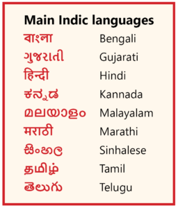 List of Indian languages in both Latin and Indic scripts